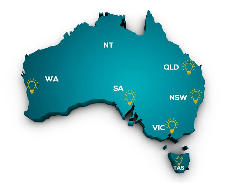Australia Electrical Services Map