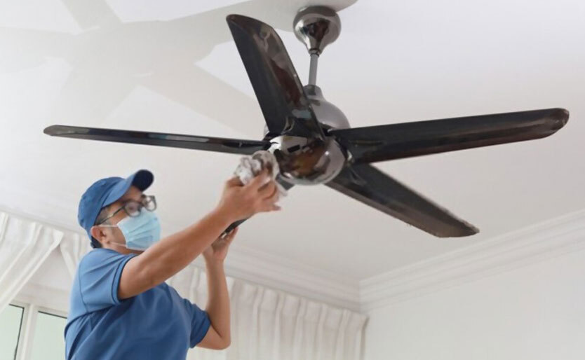 How to Clean Ceiling Fans Quickly and Safely